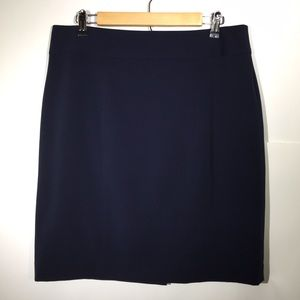 Alfani Lined Pencil Skirt Navy Womens 12